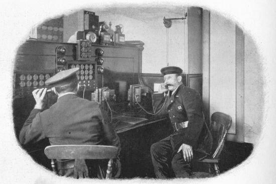 At the telephone, London Fire Brigade, c1900 (1901)-Unknown-Photographic Print