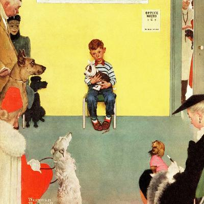"""""""At the Vets"""", March 29,1952-Norman Rockwell-Giclee Print"""
