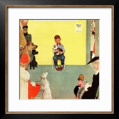 At The Vets March 29 1952 Giclee Print Norman Rockwell Art Com