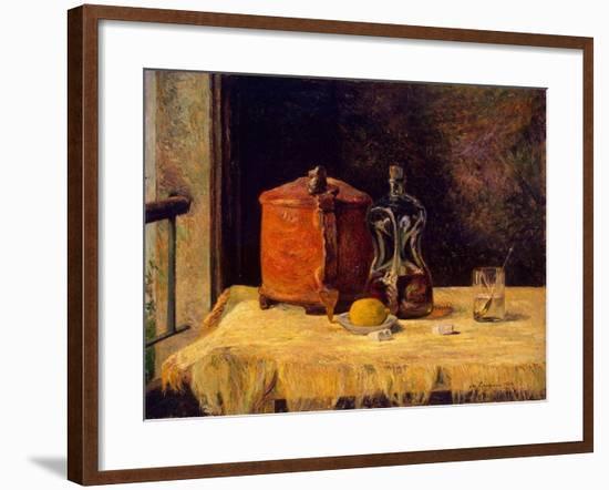 At the Window, 1882-Paul Gauguin-Framed Giclee Print