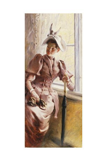 At the Window, 1892-Paul Fischer-Giclee Print