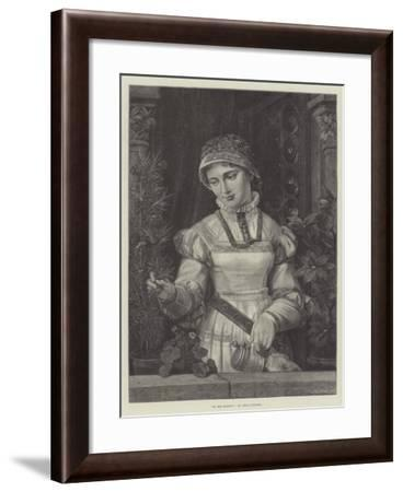 At the Window--Framed Giclee Print