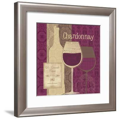 At the Winery I Brown White-Veronique Charron-Framed Art Print