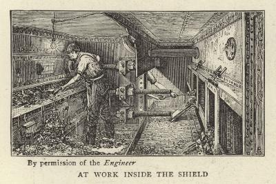 At Work Inside the Shield--Giclee Print