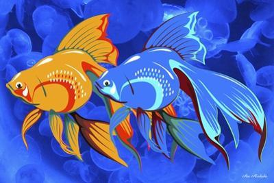 Blue And Orange Fish by Ata Alishahi