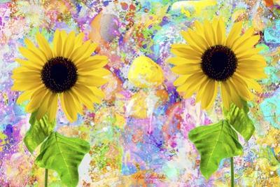 Twin Sunflowers A1 by Ata Alishahi