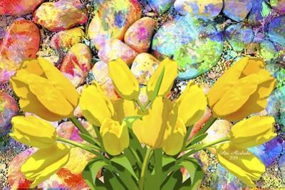 Yellow Tulips Art by Ata Alishahi