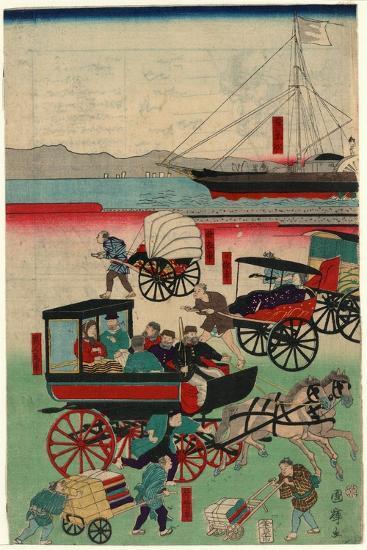 Atarashii Norimono-Utagawa Kuniteru-Giclee Print