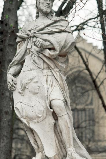 Ataulf. Germanic King of the Visigoths from 410 to 415. Statue. Vitoria-Gasteiz. Basque Country. Sp--Photographic Print