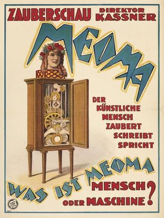 Meoma - Was ist Meoma - Mensch - oder Maschine? Germany, 1921 (Adolph Friedländer, Hamburg)