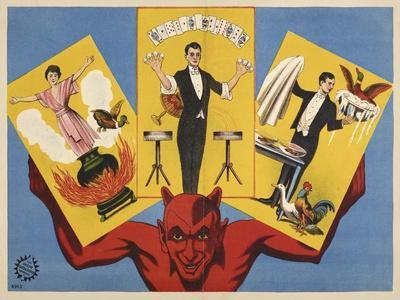 Untitled (Subject: Devil and illustrations of magic tricks). Germany, 1919