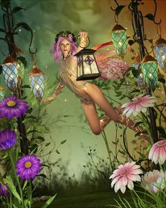 A Flying Fairy With A Lantern by Atelier Sommerland