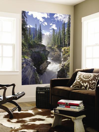 Athabasca Falls Waterfall, Jasper National Park, Alberta, Canada-Michele Falzone-Wall Mural