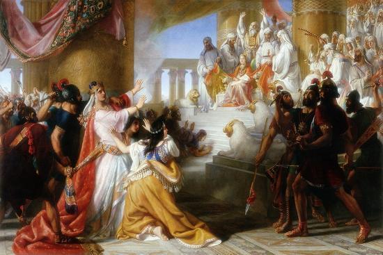 Athaliah's Dismay at the Coronation of Joash, C.1858-Solomon Alexander Hart-Giclee Print