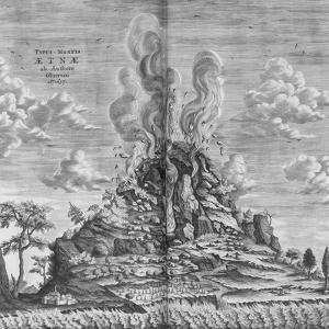Subterranean World; Mundus Subterraneus by Athanasius Kircher
