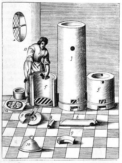 Athanor or Slow Harry, a Self-Feeding Furnace Maintaining a Constant Temperature, 1683--Giclee Print
