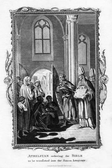 Athelstan Ordering the Bible to Be Translated into the Saxon Language--Giclee Print