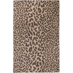 Athena Leopard Area Rug - Taupe/Chocolate 5' x 8'