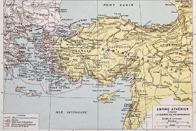 Athenian Empire Old Map-marzolino-Art Print