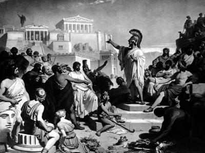 Athenian Statesman Pericles Pleading For Aspasia at Her Trial--Photographic Print