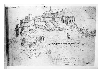 Athens, 1791 (Pen and Ink Drawing)-French-Giclee Print