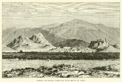 Athens and Mount Hymettus, from Mount St Elias--Giclee Print