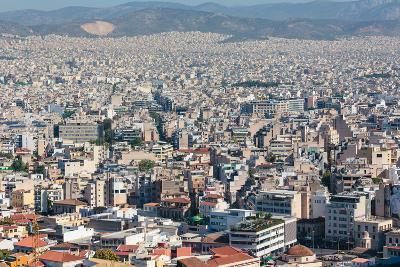 Athens, Attica, Greece. View over Athens from the Acropolis.--Photographic Print