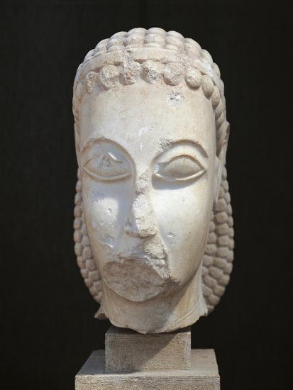 Athens, Dipylon, Head of Kouros--Giclee Print