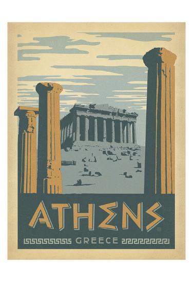 Athens, Greece-Anderson Design Group-Art Print