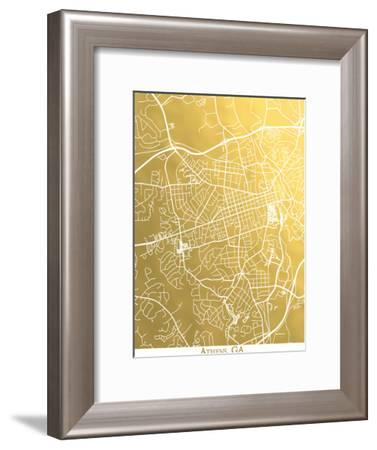 Athens-The Gold Foil Map Company-Framed Art Print