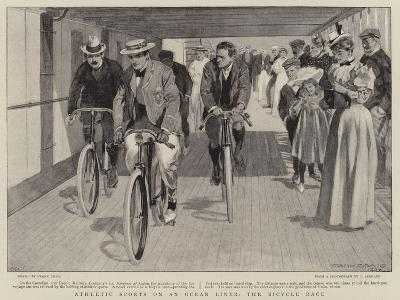 Athletic Sports on an Ocean Liner, the Bicycle Race-Frank Craig-Giclee Print
