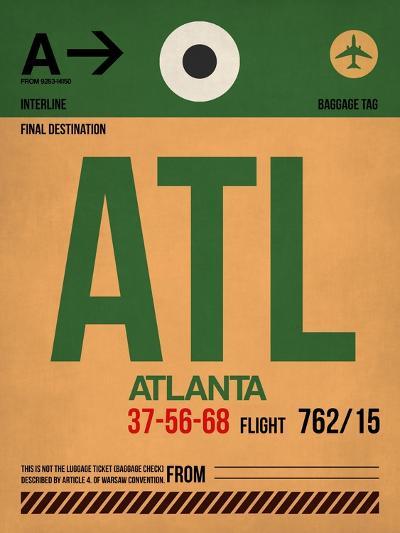 ATL Atlanta Luggage Tag 1-NaxArt-Art Print