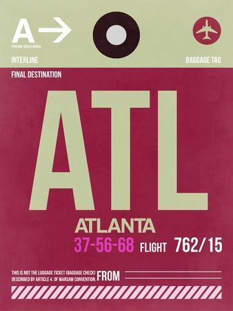ATL Atlanta Luggage Tag 2-NaxArt-Art Print
