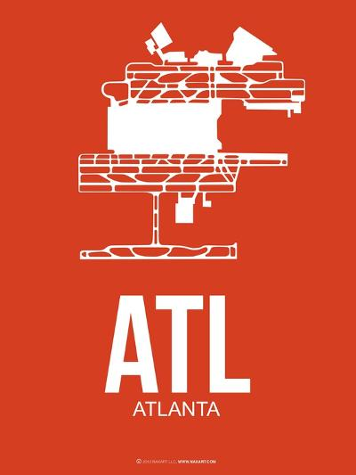 Atl Atlanta Poster 3-NaxArt-Art Print
