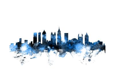Atlanta Georgia Skyline-Michael Tompsett-Art Print