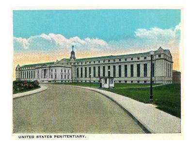 Atlanta, Georgia - US Penitentiary Exterior-Lantern Press-Art Print