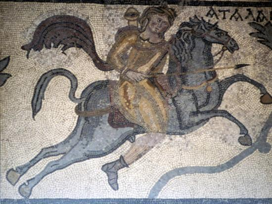Atlanta on Horseback, Carthage Mosaic, c3rd century-Unknown-Giclee Print