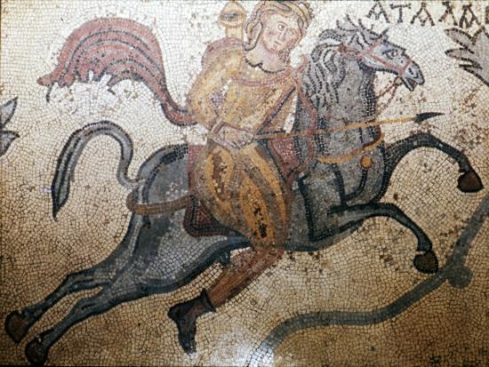 Atlanta on Horseback, Carthage Mosaic, c3rd century-Unknown-Giclee Print