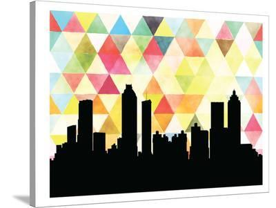 Atlanta Triangle-Paperfinch 0-Stretched Canvas Print