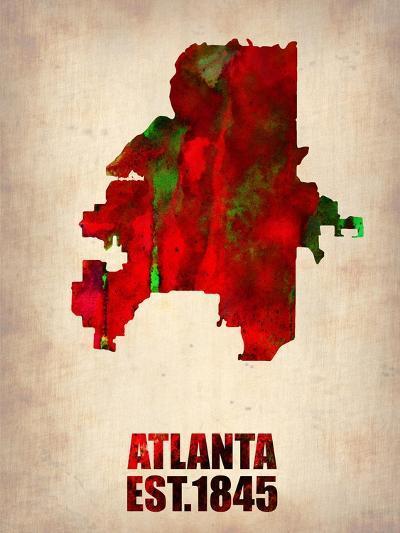Atlanta Watercolor Map-NaxArt-Art Print