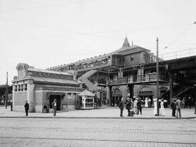 Atlantic Avenue, Subway Entrance, Brooklyn, N.Y., C.1910-20--Photographic Print