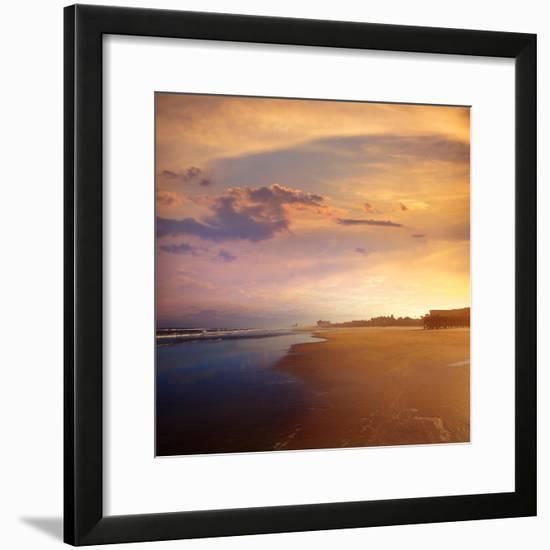 Atlantic Beach in Jacksonville East of Florida-Naturewolrd-Framed Photographic Print