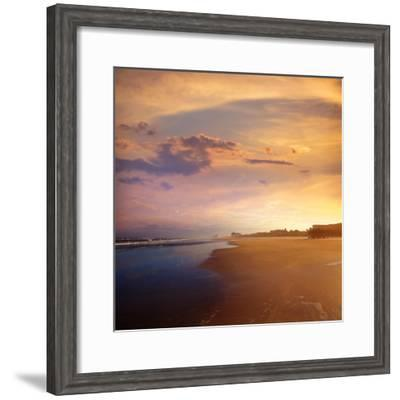 Atlantic Beach in Jacksonville East of Florida-Naturewolrd-Framed Photographic Print
