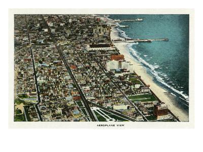 Atlantic City, New Jersey - Aerial View of the City, c.1929-Lantern Press-Art Print