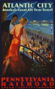 Atlantic City Pennsylvania Railroad Poster