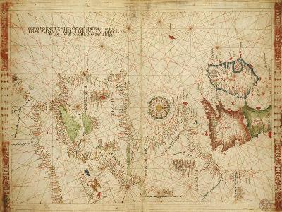Atlantic Coasts of Europe and Africa and the Western Mediterranean Sea from a Portolan Atlas--Giclee Print