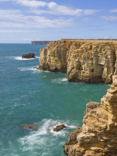 Atlantic Ocean and Cliffs on the Cape St. Vincent Peninsula, Sagres, Algarve, Portugal, Europe-Neale Clarke-Photographic Print
