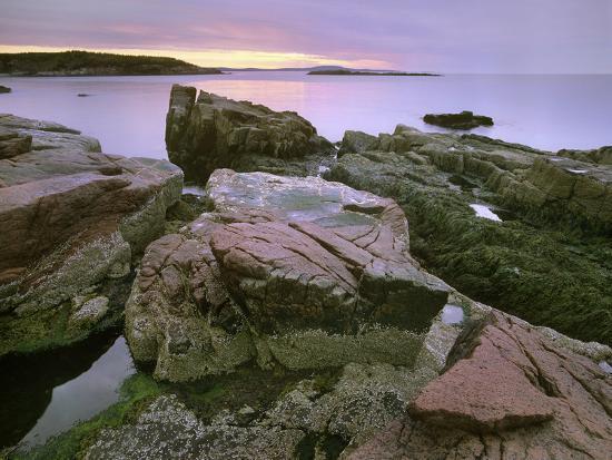 Atlantic Ocean Near Thunder Hole, Acadia National Park, Maine-Tim Fitzharris-Photographic Print