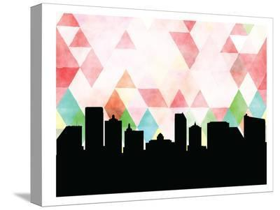 Atlanticcity Triangle-Paperfinch 0-Stretched Canvas Print