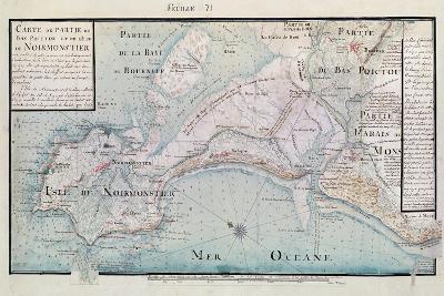 Atlas 131 H.Fol 71 Map of Part of Bas-Poitou and the Ile De Noirmoutier, 1703-Claude Masse-Giclee Print